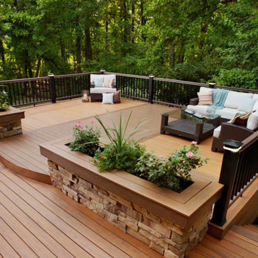 Planter Boxes Made From Composite Decking All Kind Of Wpc: Lovely Raised Deck Ideas You Should Try For Your