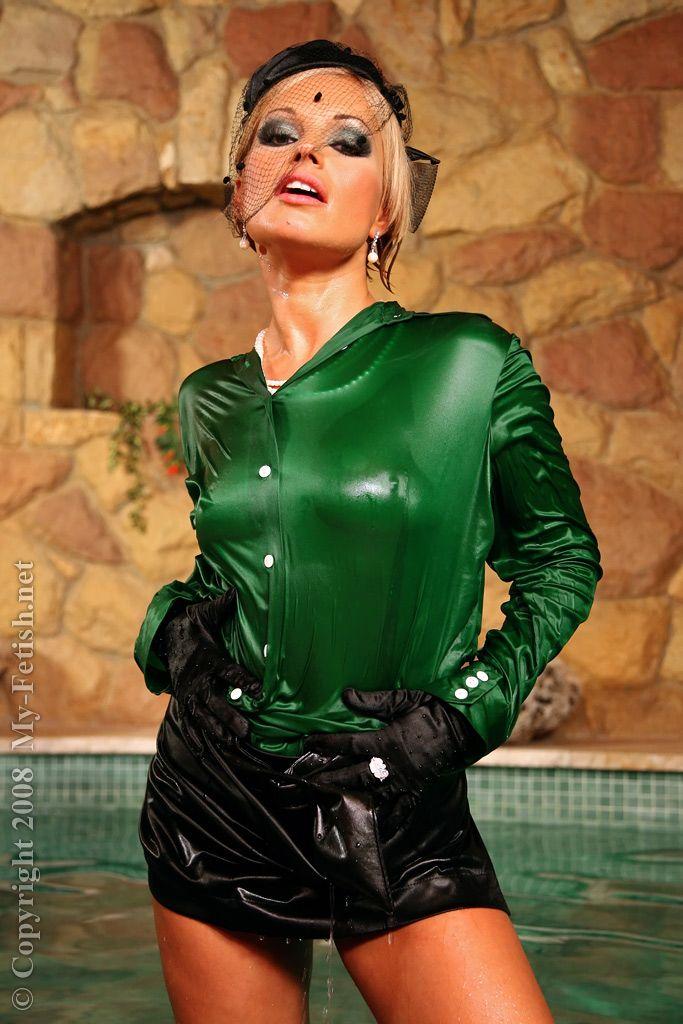 Pin by Slick Junkmen on Wet & Messy | Satin blouses