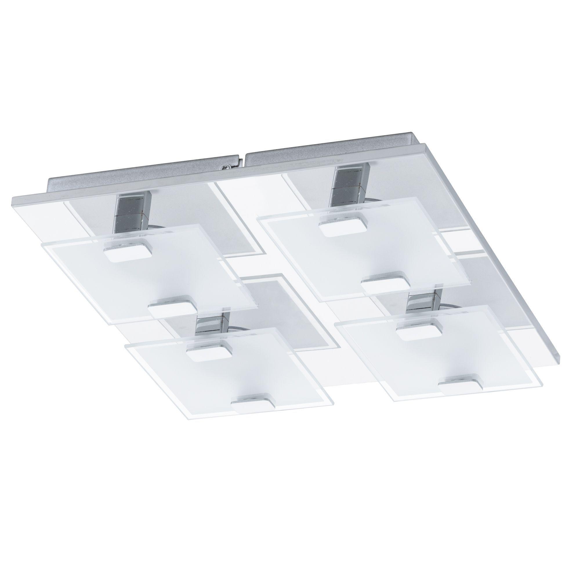 Plafonnier 4 lumières LED ACIER/CHROME L27cm Chrome - Vicaro - Les plafonniers - Suspensions et plafonniers - Luminaires - Décoration d'intérieur - Alinéa