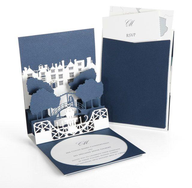 pop-up wedding invitation | | cutture london | wedding invitations, Wedding invitations