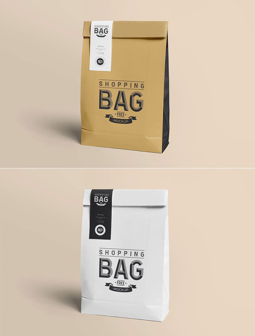 Download Free Awesome Paper Bag Mockup Mockuptree In 2020 Bag Mockup Paper Coffee Cup Pouch Packaging