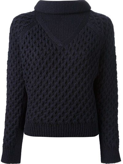 CARVEN Cropped Cable Knit Jumper