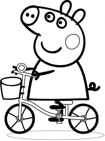 Coloriage Peppa Pig à colorier - Dessin à imprimer   Peppa ...