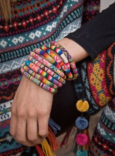 Sweater bracelets. #upcycled