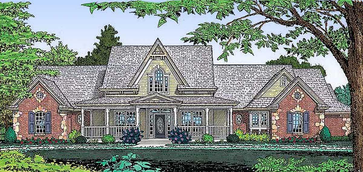 Plan 48027FM Popular Classic Country Farmhouse Plan