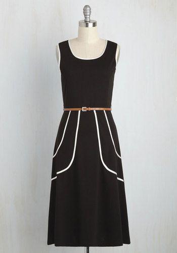 Outline of Work Dress in Black, @ModCloth