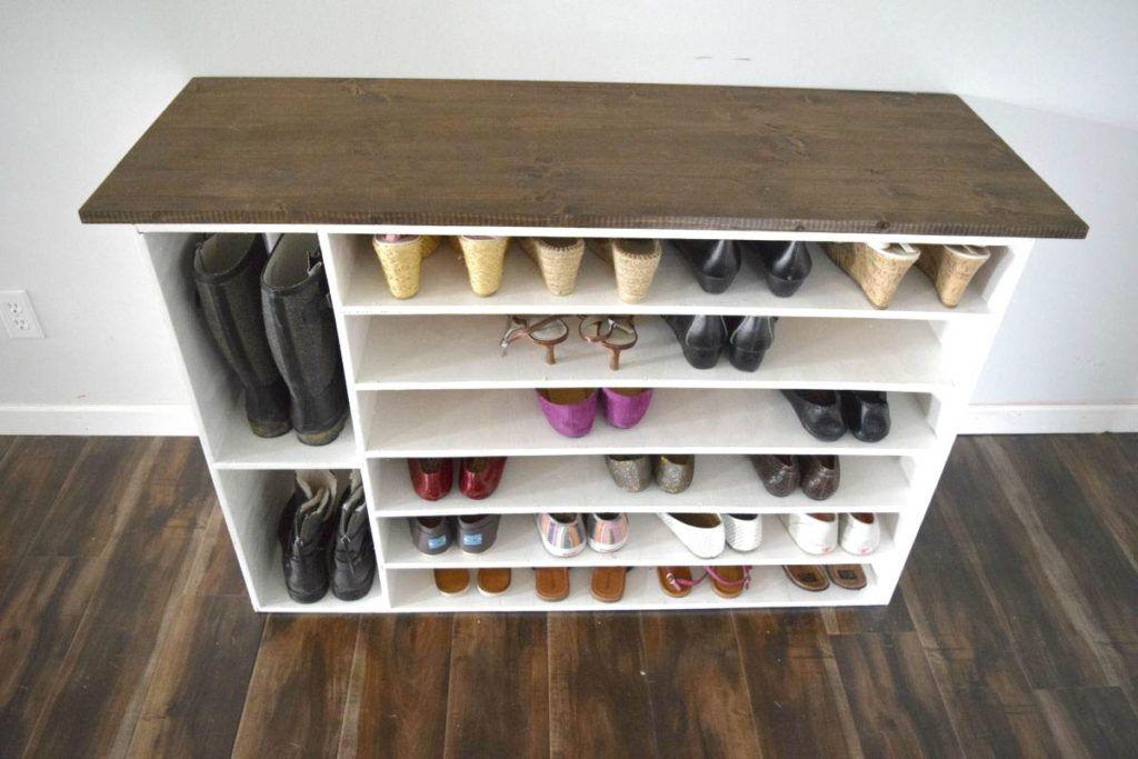 How To Make A Diy Shoe Organizer And Rack For The Closet Wooden Shoe Racks Build A Shoe Rack Diy Shoe Rack