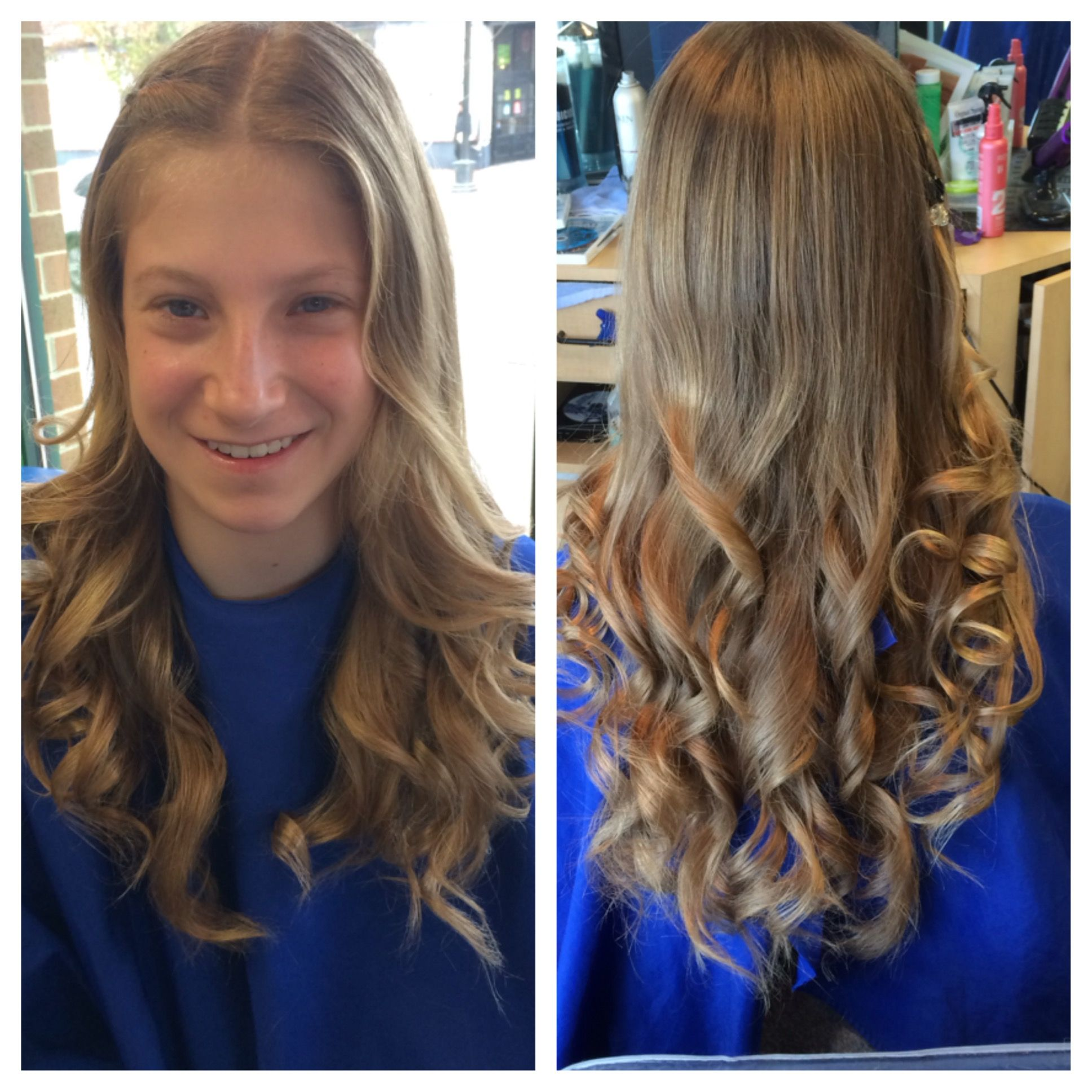long blond hair soft curls