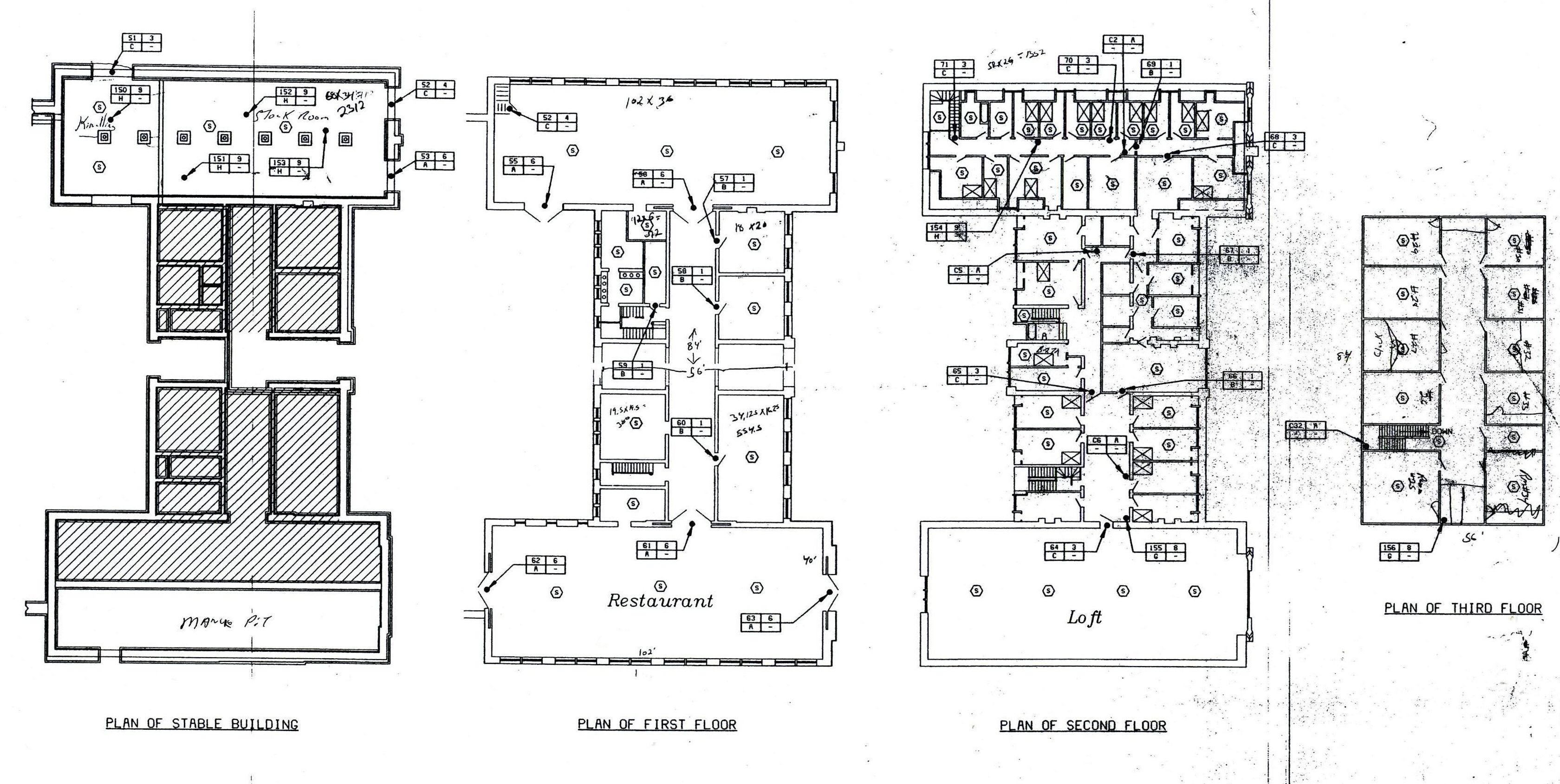 Biltmore Le Floor Plan With Lights Labeled