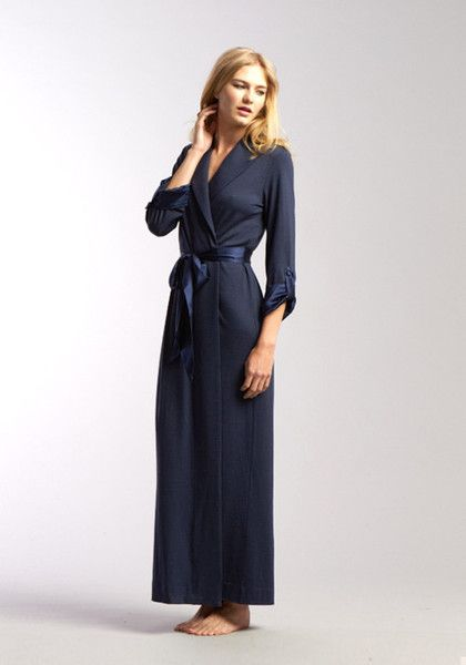 Luxury Merino Wool   Silk Lounge Robe. Made in New Zealand from the finest  quality merino wool and trimmed with silk satin. 79e03f140