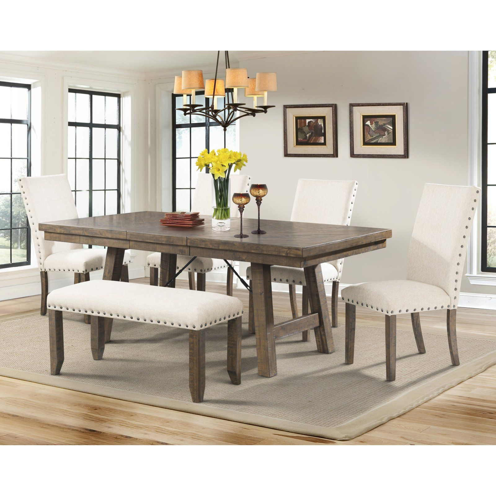 Picket House Dex 6 Piece Dining Table Set Walmart Com Farmhouse Dining Room Table Dining Table Setting Modern Farmhouse Dining Room