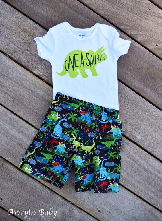 Dinosaur Birthday Outfit, Dinosaur Birthday Shirt, Dinosaur First Birthday Outfit, Baby Boys First Birthday Outfit, Dinosaur Shorts Baby Boy #birthdayoutfit