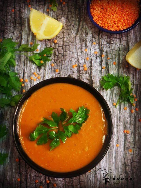 شوربة العدس الاحمر بالبطاطس والجزر Recipe Moroccan Soup Cooking Cooking Recipes