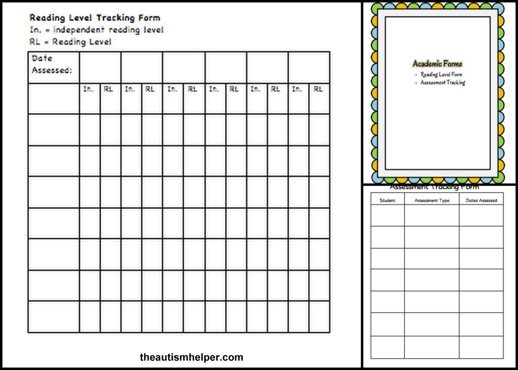 Must-Have Forms \ Templates School and Autism - assessment forms templates