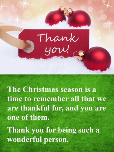 You Re Wonderful Christmas Thank You Card Birthday Greeting Cards By Davia Christmas Card Sayings Christmas Thank You Christmas Verses