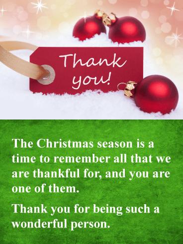 You Re Wonderful Christmas Thank You Card Birthday Greeting Cards By Davia Christmas Card Sayings Christmas Thank You Christmas Verses