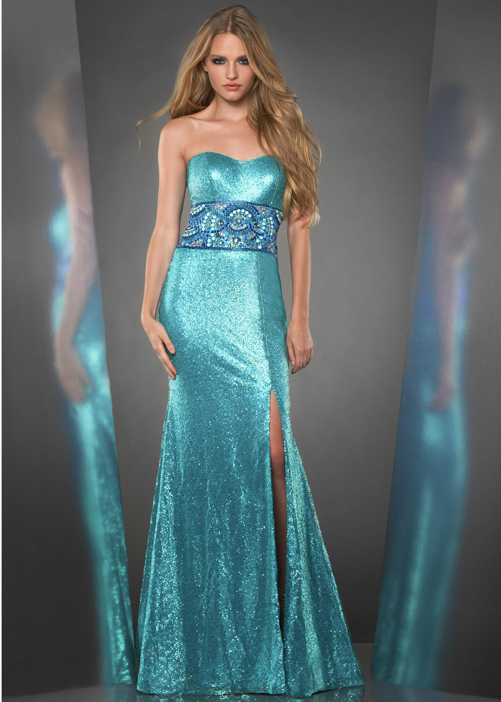 Shimmer by Bari Jay 59805 - Turquoise Sequin Mermaid Prom Dresses ...
