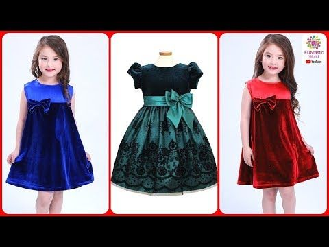 4ccf038f8 Latest Stylish Velvet Dress Designs for Baby Girls