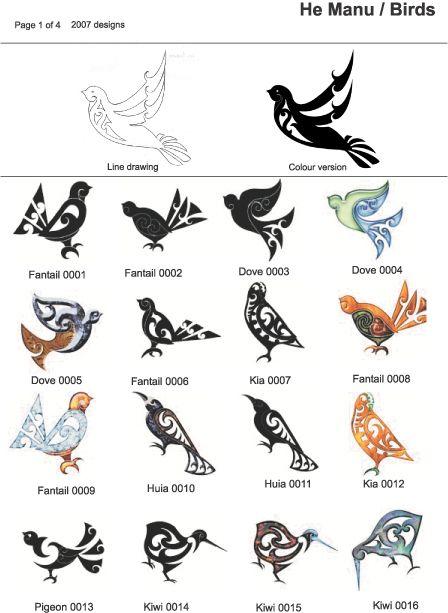 Maori Bird Tattoo …