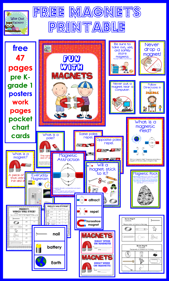 Magnets Free Printable with Letter Size Teaching Posters | Pocket ...