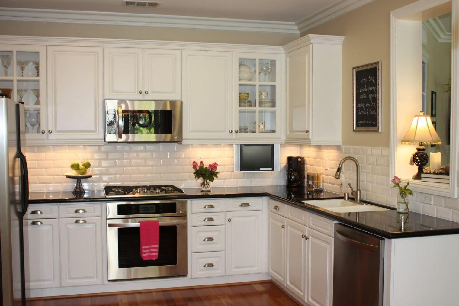 43 inspiring white kitchen cabinets with dark floors