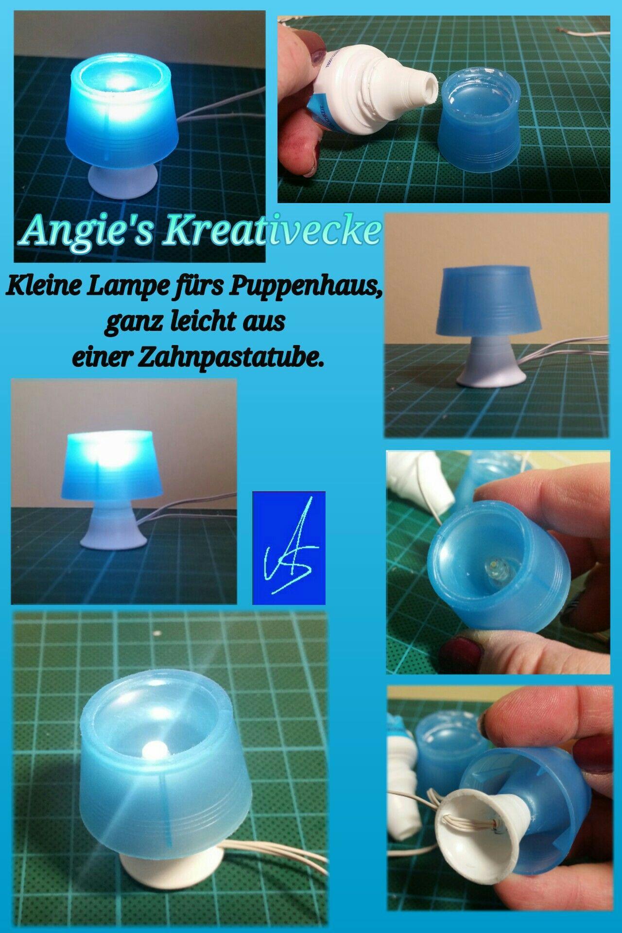Lampara De Sobremesa Miniaturas Ideas De Casa De Munecas Muebles De Casa De Munecas Diy