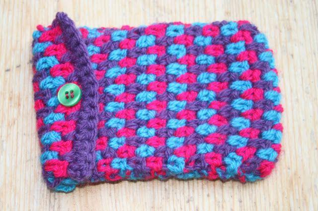 Moss Stitch Crocheted Camera Case #crochetcamera Moss Stitch Crocheted Camera Case #crochetcamera