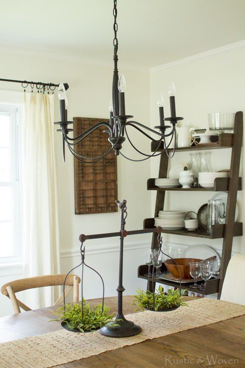 Vintage Looking Scale From Magnolia Market Pottery Barn Graham Chandelier Neutral Farmhouse Style Dining
