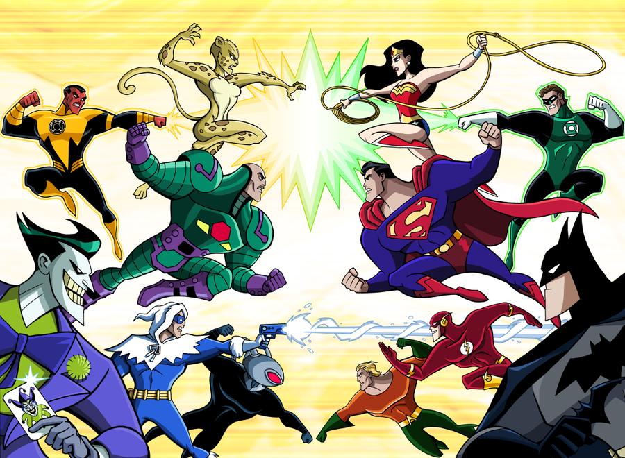 The Justice League Vs The Legion Of Doom Artwork By Luciano Vecchio 2011 Super Villains Dc Comics Art Chibi Marvel