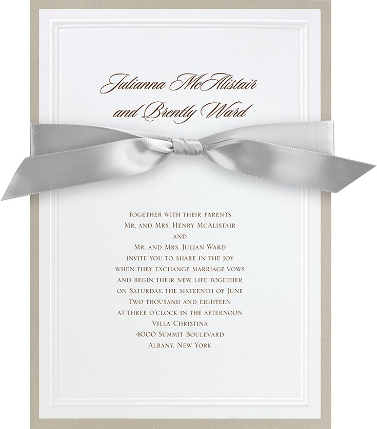 Trending Wedding Invitations: Sophisticated Border - Invitation