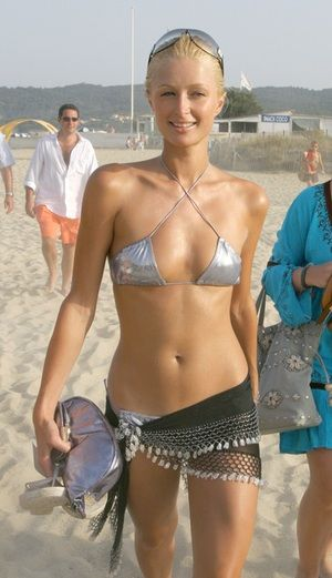 5ad37349397 Paris Hilton in her hot silver... is listed (or ranked) 3 on the list Paris  Hilton Bikini Pictures