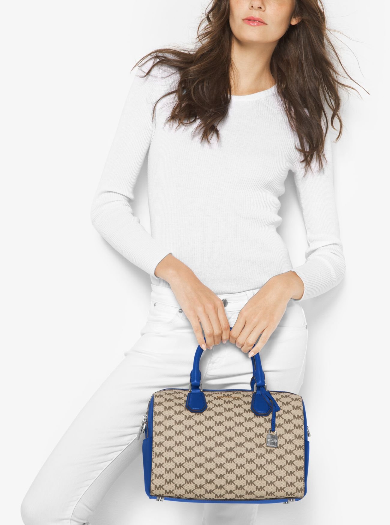MICHAEL KORS Mercer Medium Heritage Logo Duffel