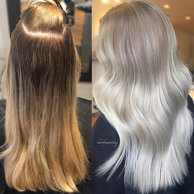 Hair Color Correction And After