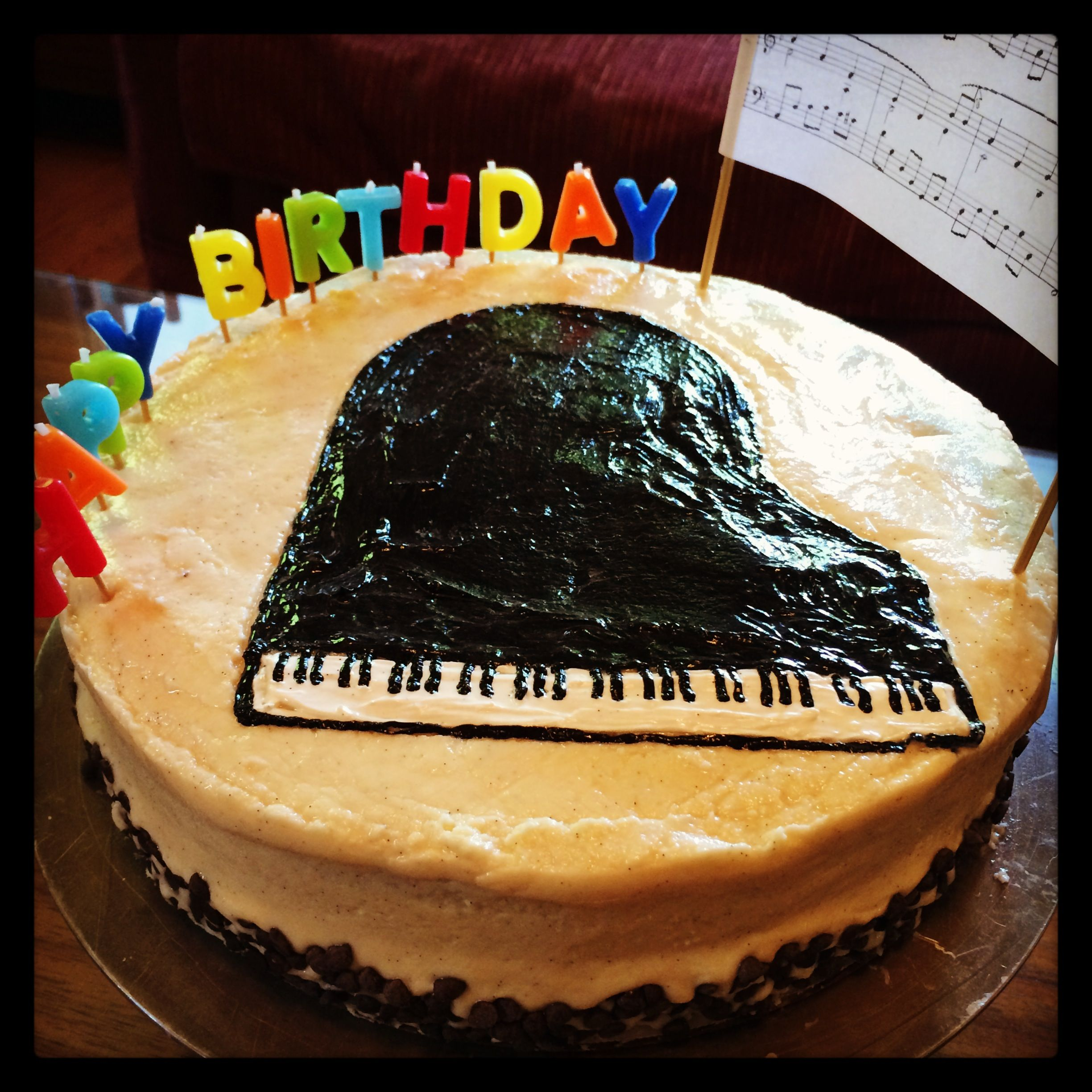 Admirable Happy Birthday Ben Cake Piano Musicthemedcake Birthday Personalised Birthday Cards Arneslily Jamesorg