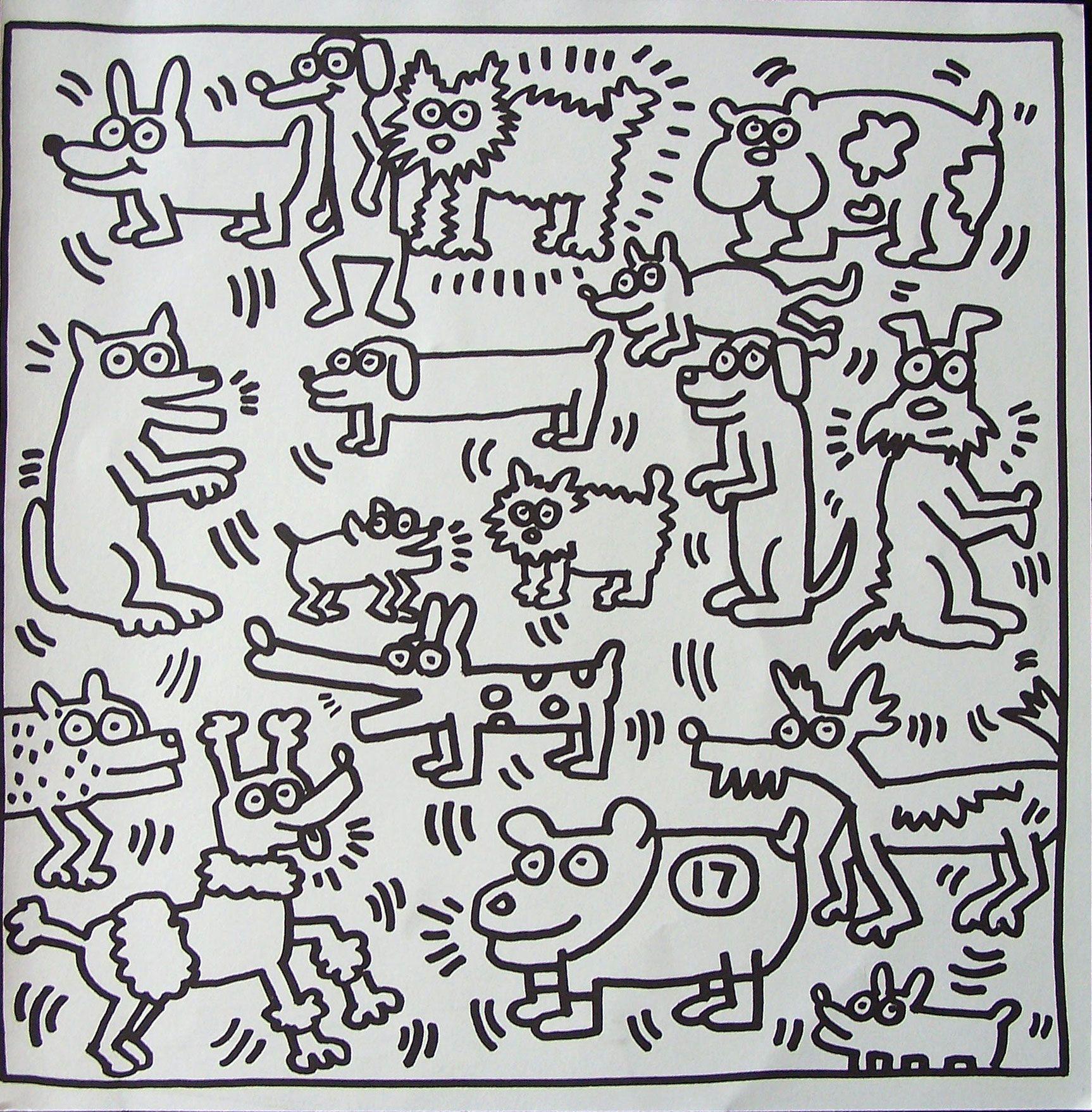 Honden Keith Haring Keith Haring Keith Doodle Ideeen