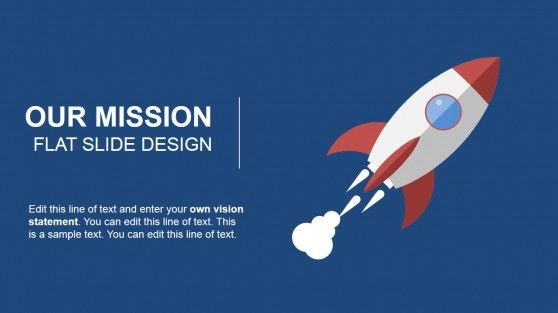 Our mission flat slide design for powerpoint slide design our mission statement powerpoint template featuring a space rocket clipart toneelgroepblik Gallery