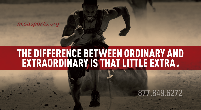 Sports Motivational Quotes The Difference Between Ordinary And Extraordinary Is That Little .