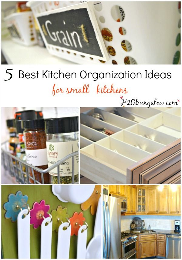 5 Best Kitchen Organizing Ideas For Small Spaces | Diy organization ...