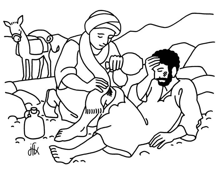 Parable of the Good Samaritan Coloring Page Pinteres