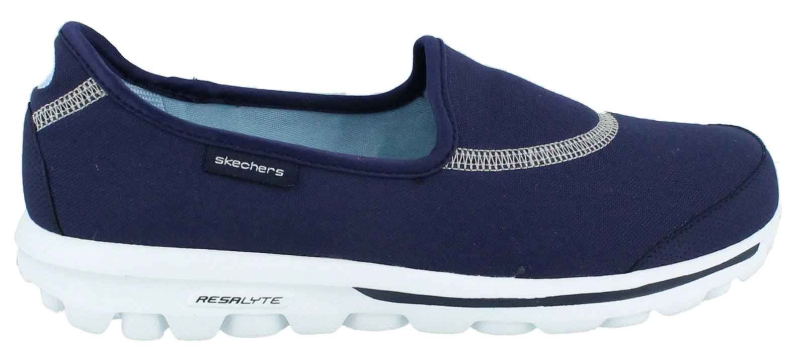 ladies navy skechers