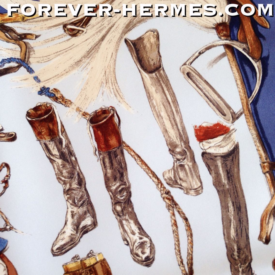 SOLD OUT In our store http://forever-hermes.com #ForeverHermes for shoeporn lovers and boots addicts: Hermes Paris small silk pocketscarf titled A Propos De Bottes by iconic artist Xavier De Poret featuring historic designs of riding boots gentleman hat equestrian artifacts and more boots! men's fashion men's necktie men style women's fashion womenswear hermes carre hermes paris horseriding