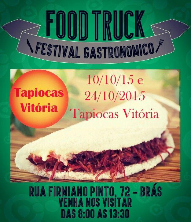 Essa semana teremos tapioca!!! Tem food truck para todo mundo, inclusive para quem apóia comidas light!! Espero todos vocês esse sábado a partir das 8h ;)