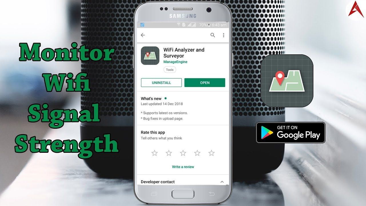 Free wifi analyzer and surveyor app monitors the wifi