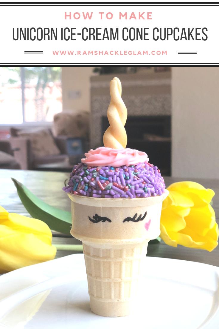 Unicorn Ice Cream Cone Cupcakes | Cupcake cones, Unicorn ...
