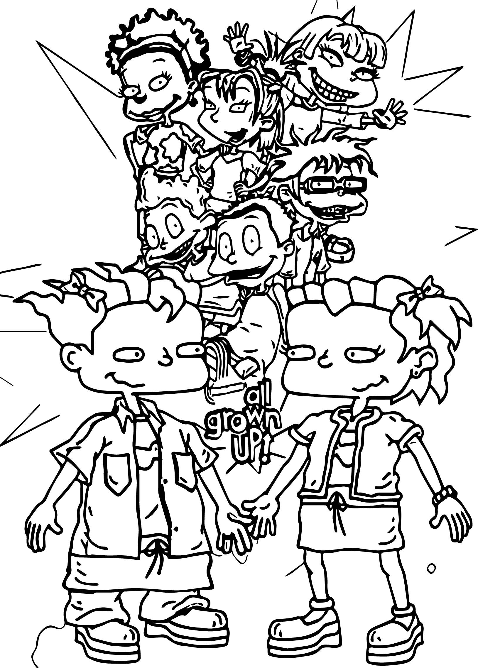 All Grown Up Rugrats Coloring Page | Pinterest | Rugrats, Snail mail ...