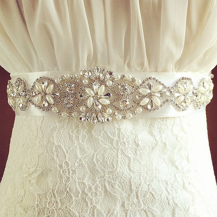 pearl embellished bridal dress belts | BLING BLING BLING | Pinterest ...