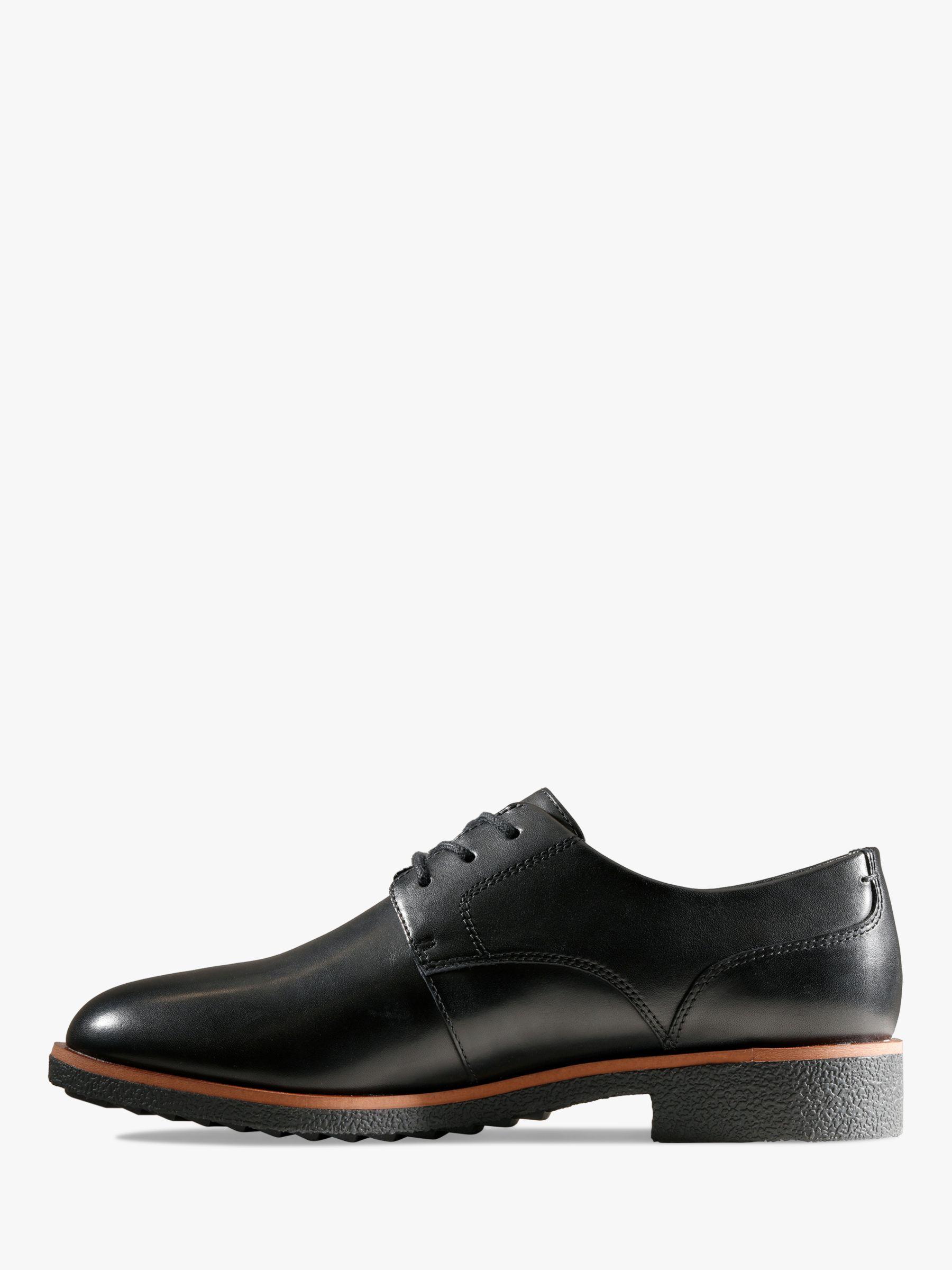 Clarks Griffin Lane Leather Brogues, Black | Clark heels