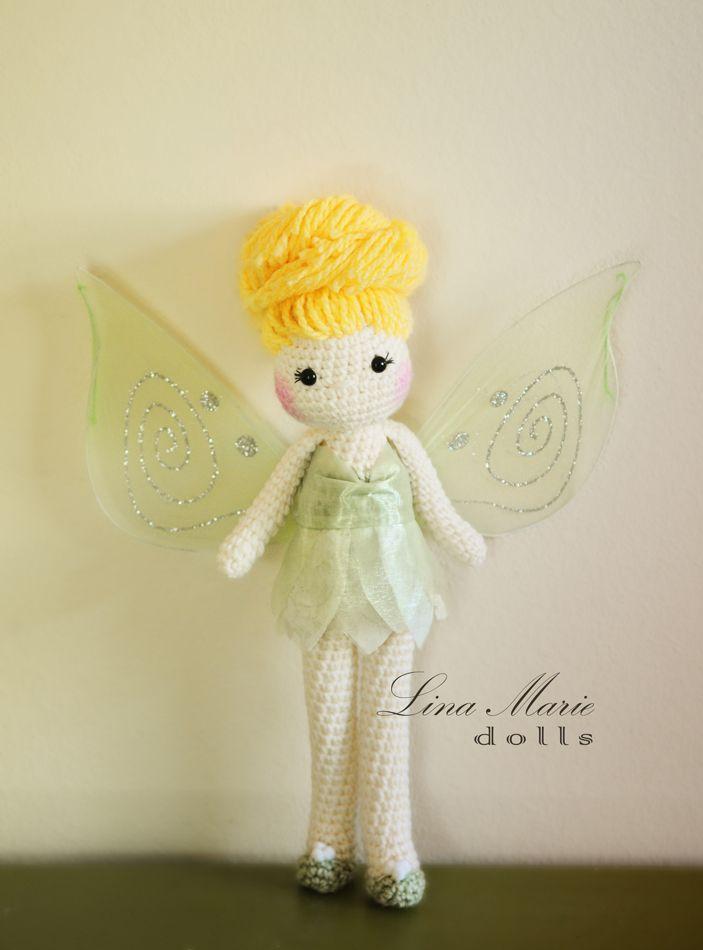 A crochet Tinkerbell doll // handmade by me // Lina Marie Dolls ...