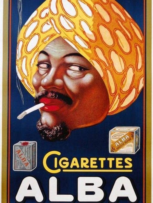 Alba Cigarettes   Afiche publicitario