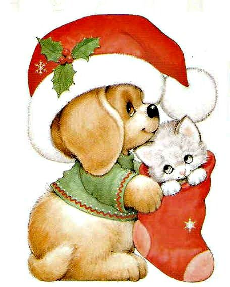 Merry Christmas to you and to yours,  Kids love cute animals any time but in Christmas garb  . . . always.